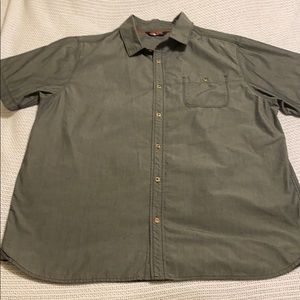 NICE Men's North Face XL Gray Short Sleeve Shirt